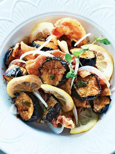 なすはジュワー、豚肉はカリカリの食感。|『ELLE a table』はおしゃれで簡単なレシピが満載!