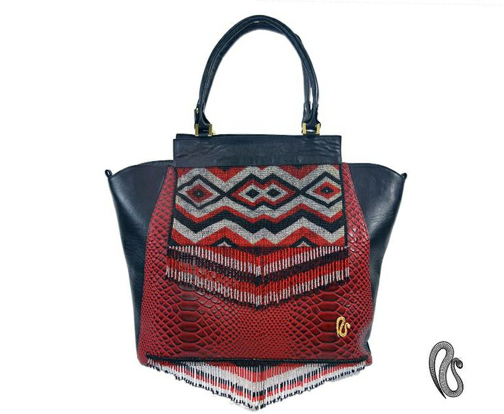 Handbag Leather ! Handcrafted by Colombian Natives Embera Chami