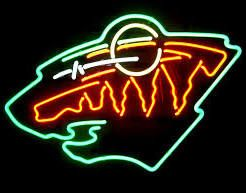 MN Wild neon sign