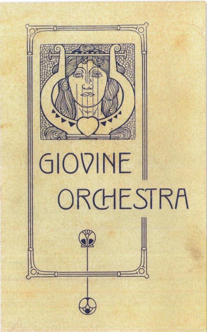 Una delle primissime locandine GOG, primi anni Dieci del Novecento