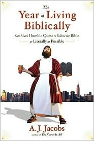 a little contrived.  but entertaining!: Worth Reading, Humble Quest, Man S Humble, Books Worth, Living Biblically, Year, The Bible, My, Follow