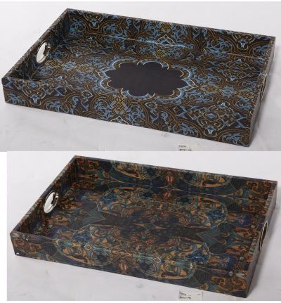 Another look at our designer leather and timber trays. Gorgeous details and colours and now available at Phil Bee.
