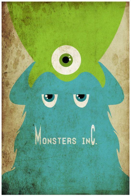 Monsters, Inc. (2001) - Minimal Movie Poster