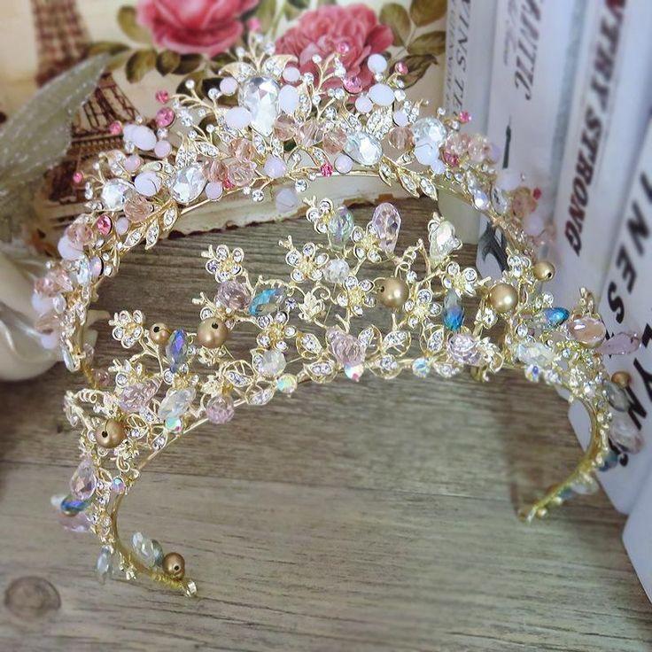 Flower Crystal Tiara