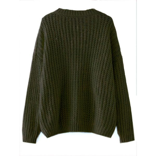 Olive Green Drop Shoulder Textured Sweater (935 RUB) ❤ liked on Polyvore featuring tops, sweaters, green sweater, olive green sweater, olive sweater, army green sweater and drop-shoulder tops
