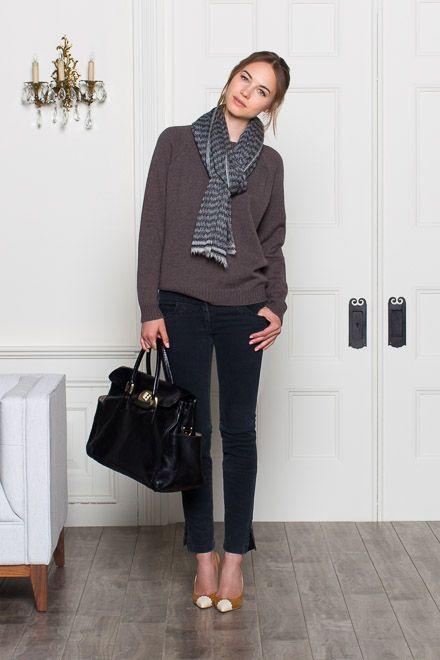 Raglan Crewneck Sweater - Mocha | Emerson Fry