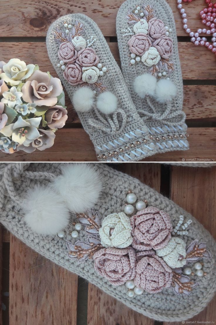 "Knitten Mittens | Вязаные варежки ""Акварель раннего утра"" — работа дня на Ярмарке Мастеров"