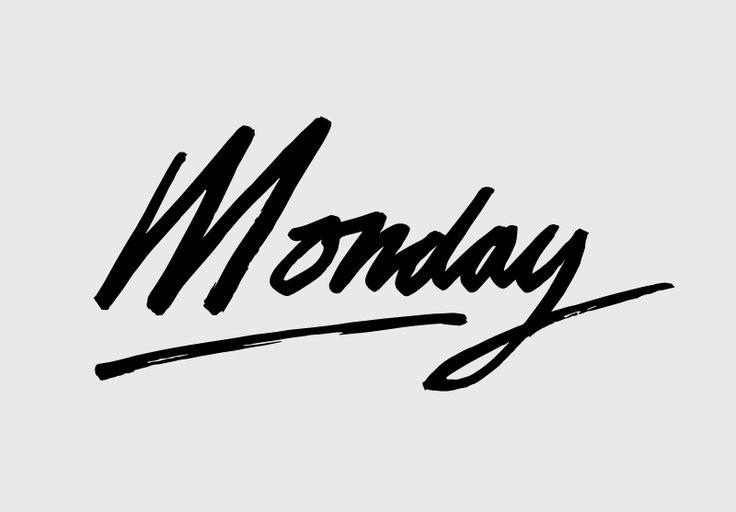 simply aesthetic . Typo . typography . script . monday . week . tipografia .