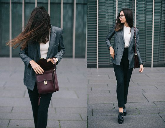 Get this look: http://lb.nu/look/7829170  More looks by Beatrice Gutu: http://lb.nu/thefashioncuisine  Items in this look:  Blazer, Jumper, Trousers, Shoes, Bag   #casual #chic #minimal