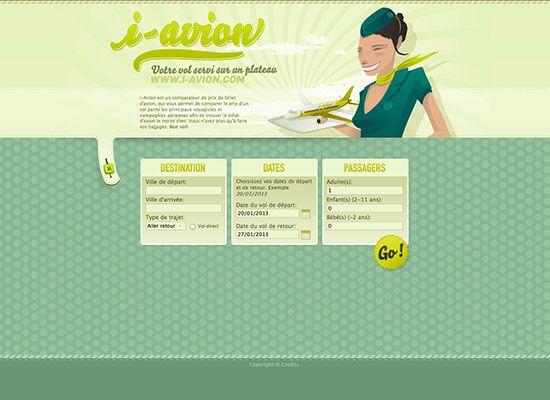 Websites-in-Gruen-i-avion