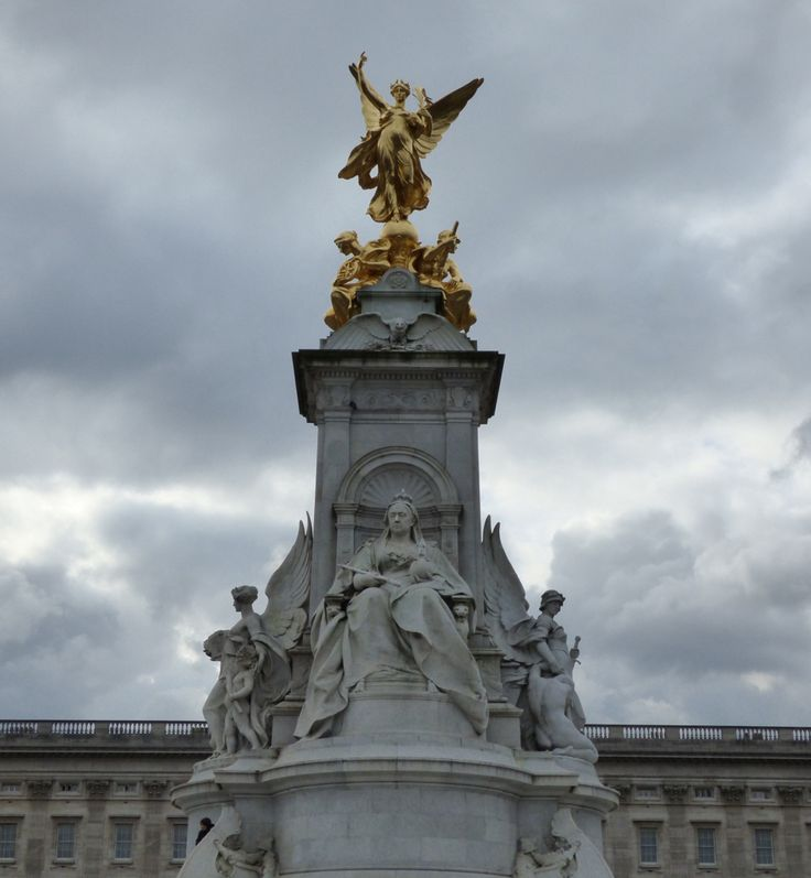 This is a part of the Queen Victoria Memorial statue. You can find it in front of the Buckingham Palace. Just majestic