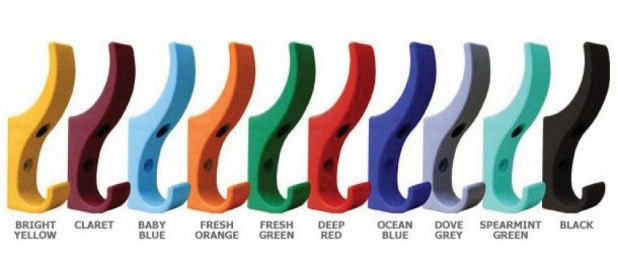 DuraHook Coat Hooks - currently a free sample available in any colour :D http://www.lockersandbenches.co.uk/page/durahook-sample