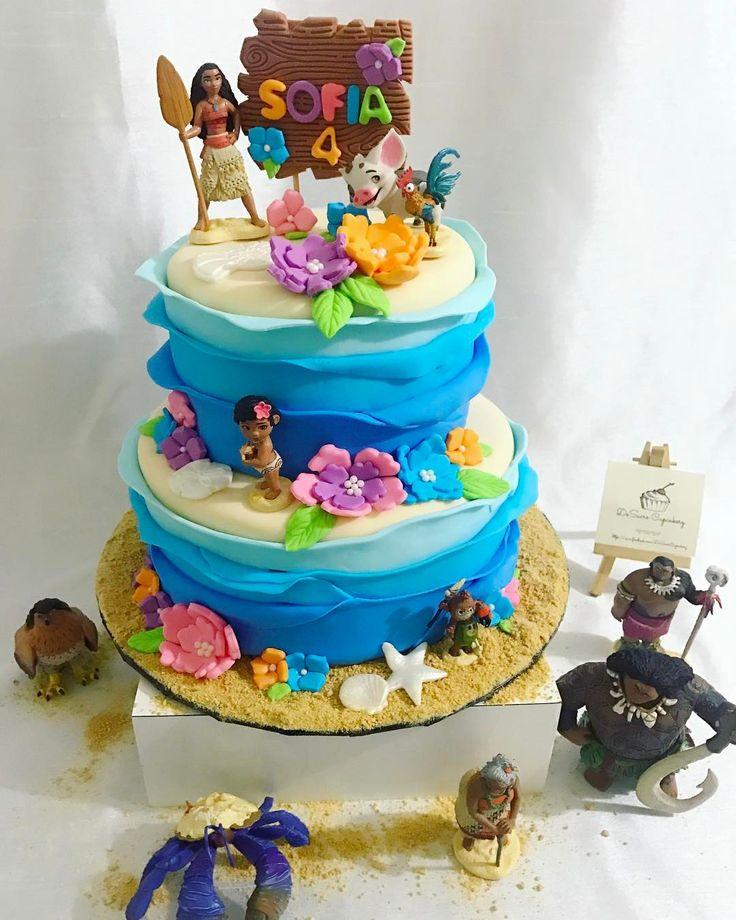 126 best Disneys Moana Cakes images on Pinterest Moana party