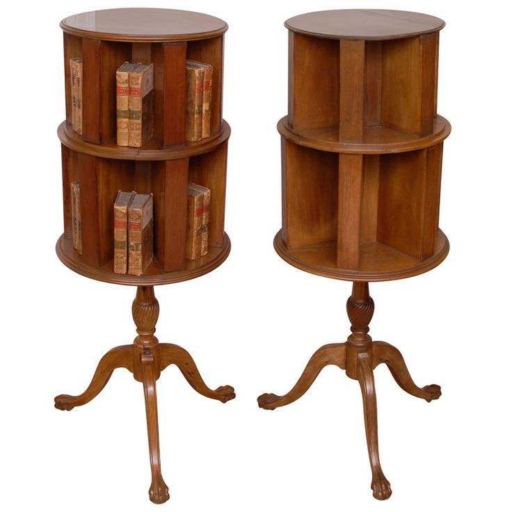 Superb 1stdibs | Pair Of Mahogany Revolving Bookcases