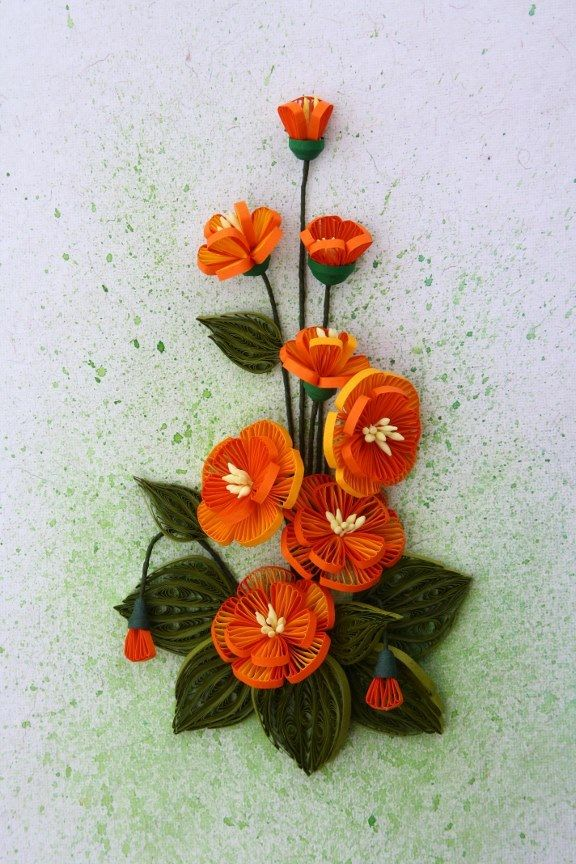 Quilling flowers made by Maya Arts