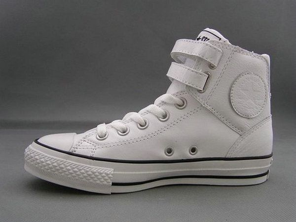 Converse All Star Black High Top 2 Velcro Leather Sneakers Sale... Size 4