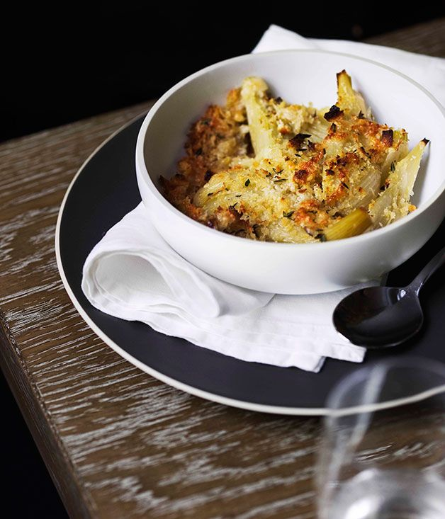 Fennel and thyme gratinée