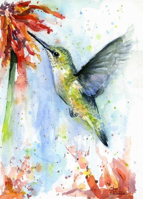 55 Very Easy Watercolor Painting Ideas For Beginners ...