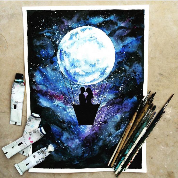 """Fly me to the moon  By @danielle_foye  _ Also check out our new art featuring page @artshelp"""