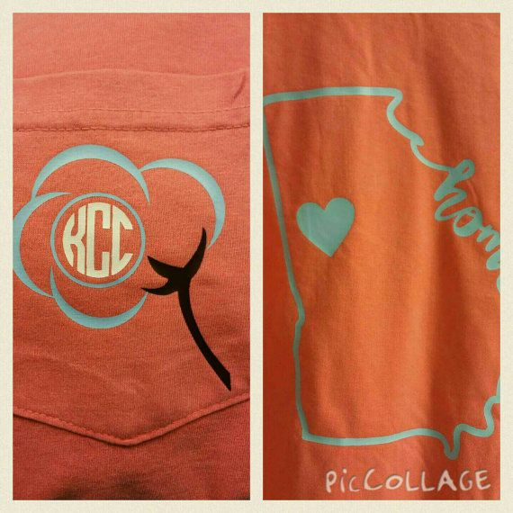 Home with cotton monogram T Shirt. ADULT.. short by MBPandMore