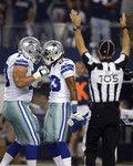 Saints Cowboys Football - Zack Martin, Terrance Williams 24-0 Halftime