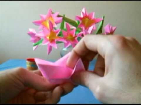 Bouquet Of Pink Origami Flowers Youtube Paper Flowers Origami