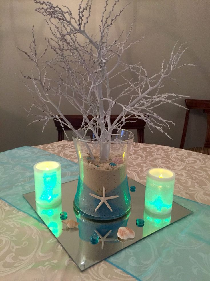 Best sand centerpieces ideas on pinterest