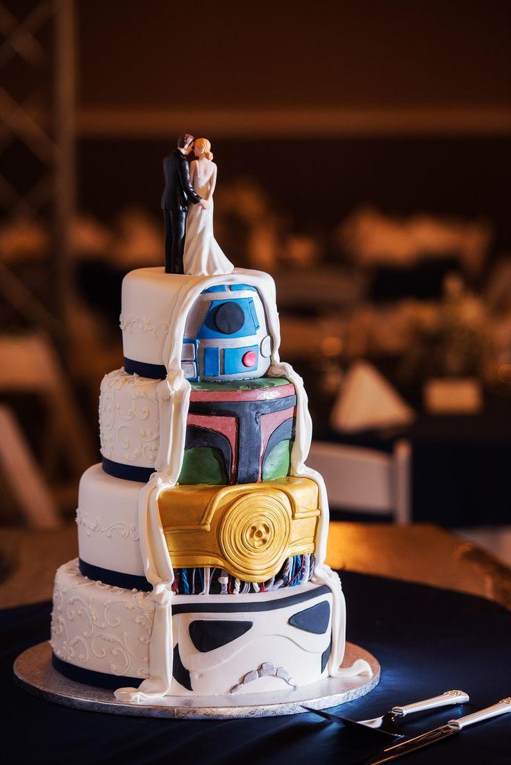 Unique Wedding Cake Star Wars Cake C3po Cake Double Sided