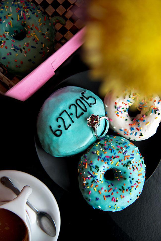 Glam Doll Donuts Save the Dates  via Emily J. Davis Photography: Blog: Melissa + Dominik