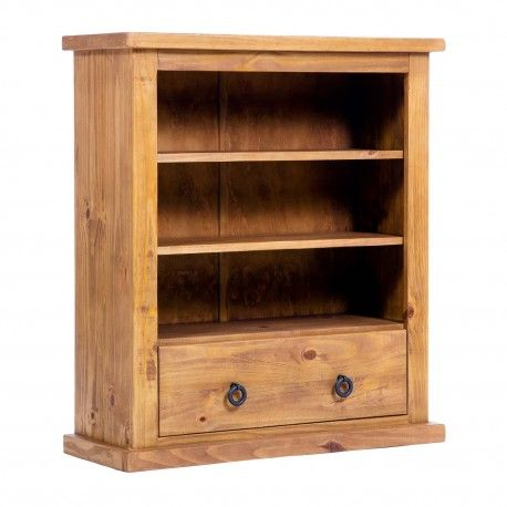 farmhouse low wide bookcase with drawer self assembly wwwfimuco