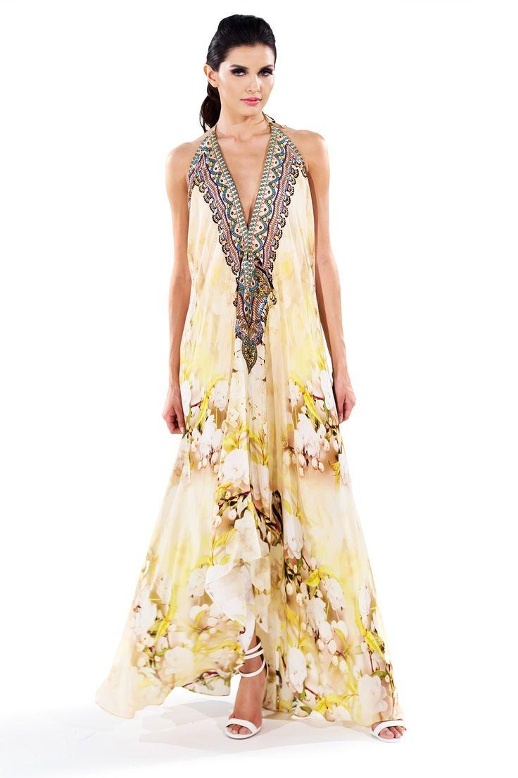 Shahida Parides Women's White Floral Print Dress