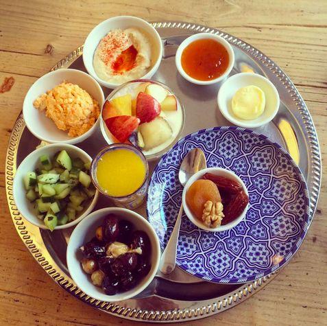 Oriental brakefast in Zurich / Orientalisches Frühstück im Café Maison Blunt in Zürich