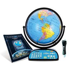The New and Improved 2017 Intelliglobe Deluxe Interactive Globe for Kids is a wonderful educational resource for home and school. It also makes a great Christmas present. The educational and entertaining globe that contains 1,000's of fun facts, geography and general information that is truly interesting, useful, and thought provoking. Touch the wireless Intellipen to the globe to play games and explore amazing facts about the world.