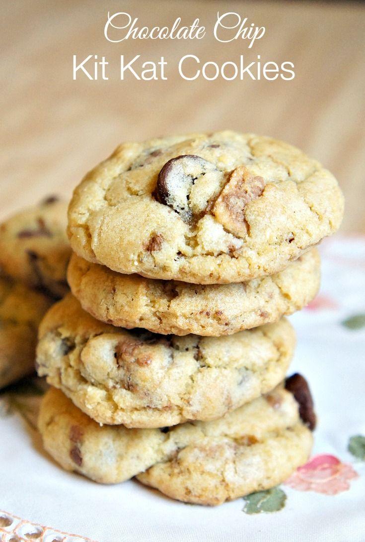 Chocolate Chip Kit Kat Cookies Recipe