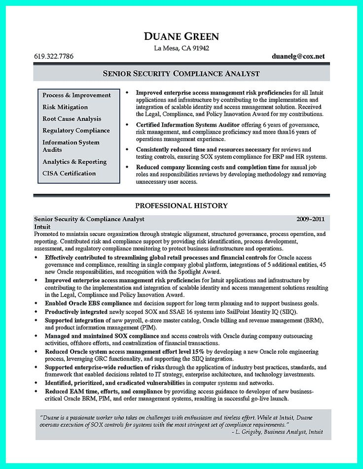 1000 images about resume template on pinterest entry - Qualifications for compliance officer ...