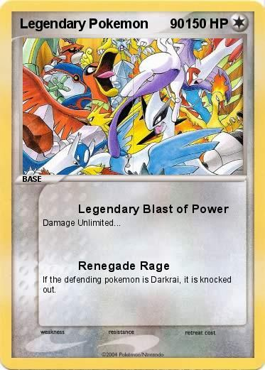 Legend Pokemon Cards | ... Legendary Pokemon 90 90 - Legendary Blast of Power - My Pokemon Card