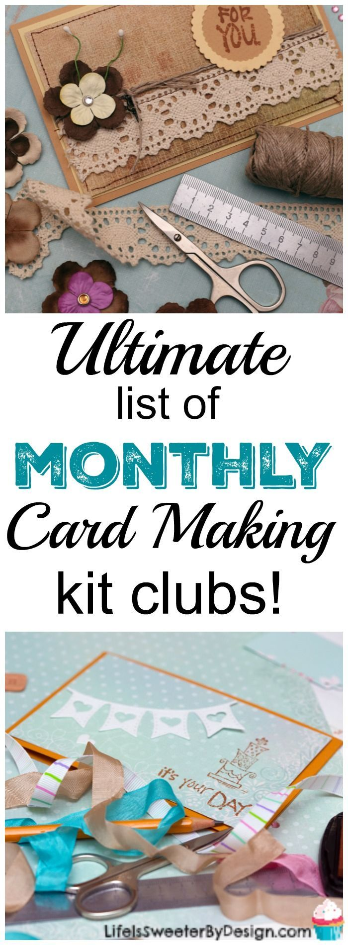 Ultimate List of Monthly Card Making Kit Clubs available for paper crafters! These monthly card making kits are awesome and a great way to get more cards made!