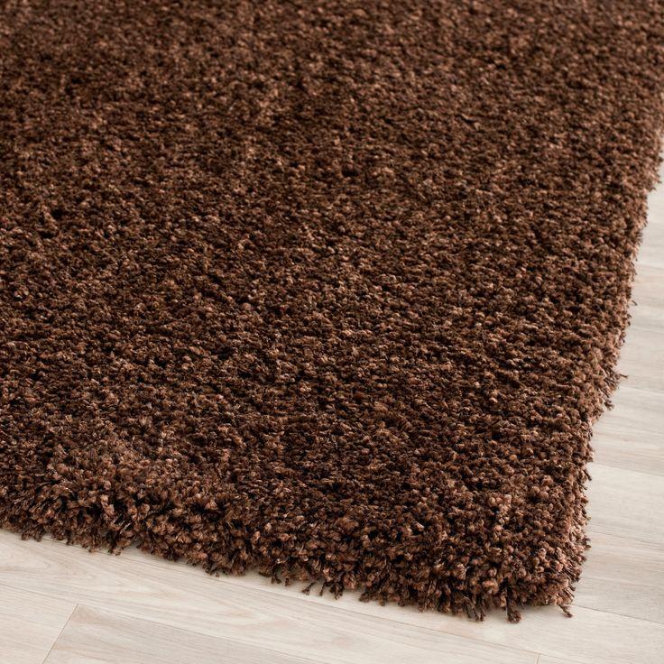 Safavieh California Cozy Plush Brown Shag Rug (3' x 5') (SG151-2727-3), Size 3' x 5' (Olefin, Solid)