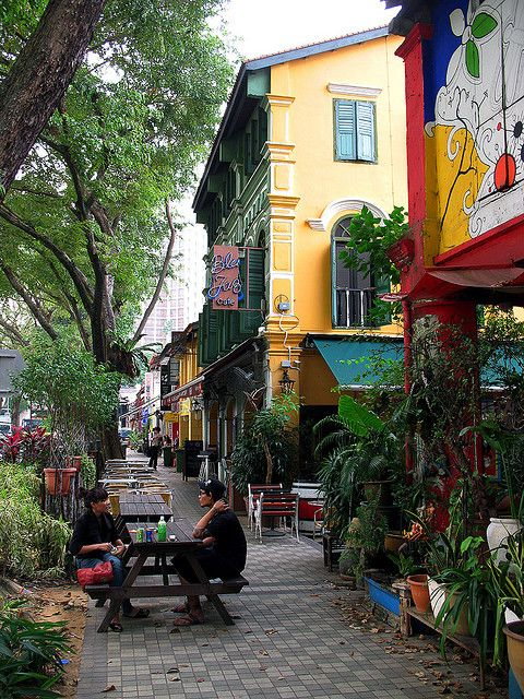 Blu Jaz Cafe, Bali Lane, Kampong Glam, Sinapore. If you're into live jazz, or just want to visit a bar with a bit more Bohemian feel, Blue Jaz is the place for you.