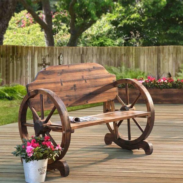 Walker Wagon Wheel Bench