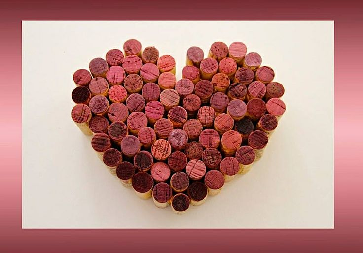 A heart for Valentine's Day--made from red wine corks, of course.