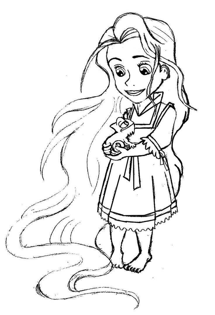 rapunzel jovencita dibujo  disney prinzessin malvorlagen