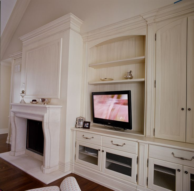 Traditional wall unit & fireplace