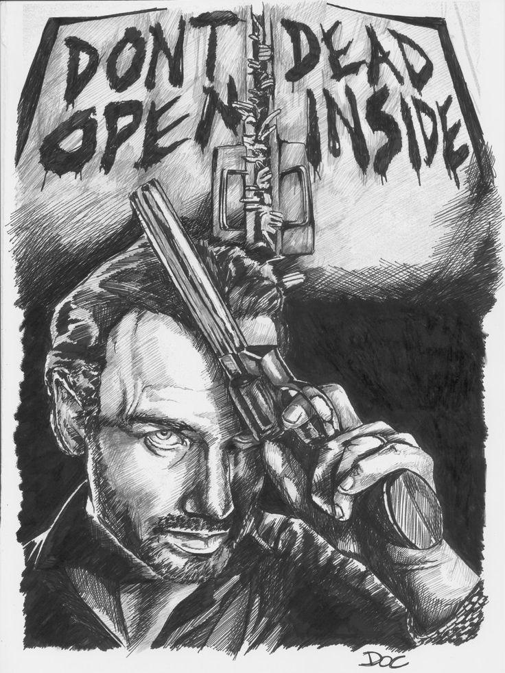 The Walking Dead - Rick Grimes portrait by dottcrudele.deviantart.com on @deviantART