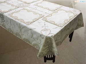 Buy Dekor world hand beaded table cover w/6 pcs mat at jus Rs 4399.