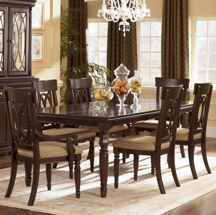 Leighton 7 Piece Dining Set W/ Arm. Dining Room Table SetsFormal ...
