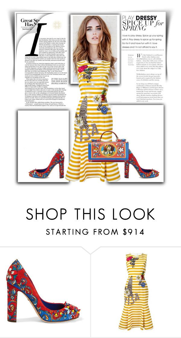 """""""Spring-Summer"""" by any-dazaperez ❤ liked on Polyvore featuring Dolce&Gabbana"""