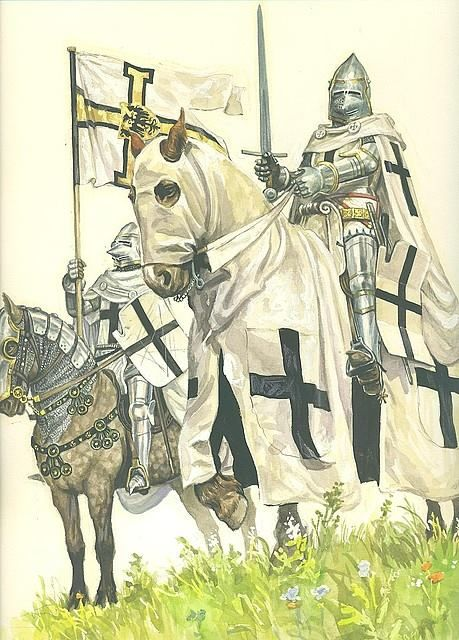 Teutonic Knights c1200 (The Order of Brothers of the German House of Saint Mary in Jerusalem), a German medieval military order.