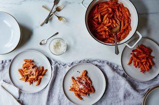 Ina Garten's Pasta alla Vecchia Bettola Recipe on Food52. A Genius Technique for the Best Vodka Pasta (And Better Marinara, Too)  WORTH THE EFFORT!