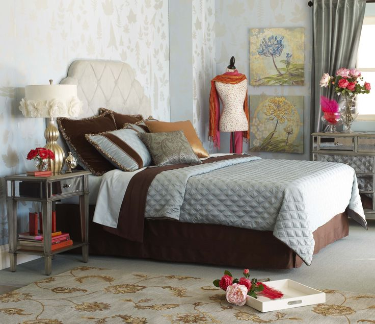 Bedroom Furniture Packages Colorful Master Bedroom Design Ideas Mirrored Bedroom Furniture Uk Master Bedroom Accent Wall Colors: Pier 1 Hayworth Bedroom Headboard And Nightstand
